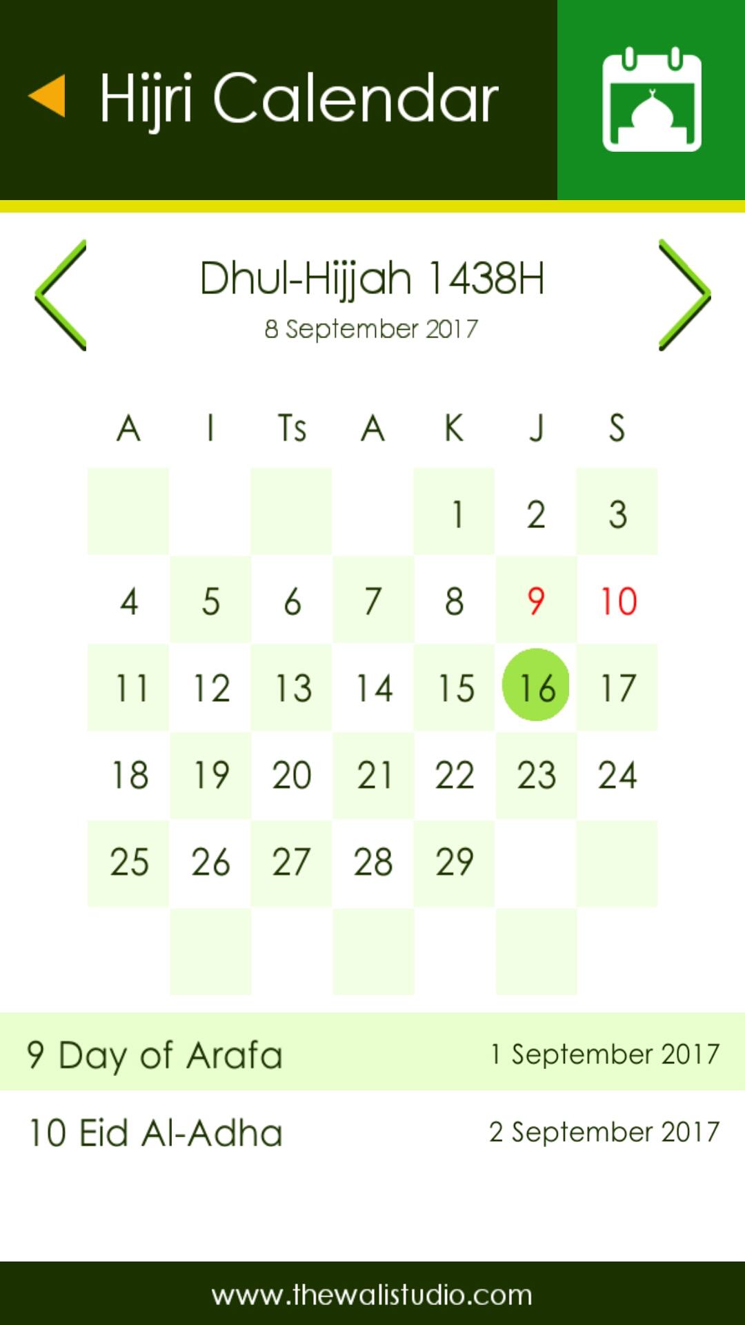 Kalendar Hijriah