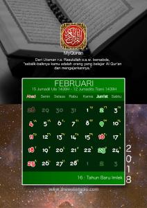 kalender 2018 myquran - Februari