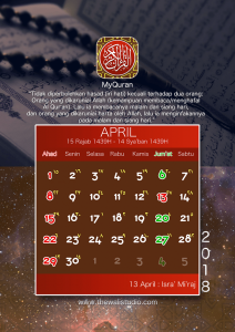 kalender 2018 myquran - April