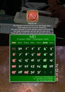 kalender 2018 myquran - Mei