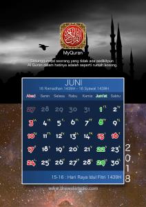kalender 2018 myquran - Juni