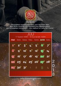 kalender 2018 myquran - Juli