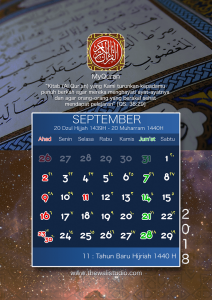 kalender 2018 myquran - September