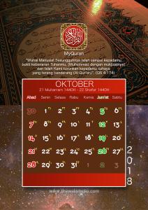 kalender 2018 myquran - Oktober