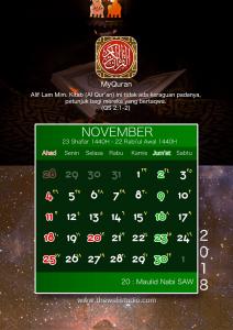 kalender 2018 myquran - November