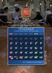 kalender 2018 myquran - Desember